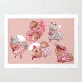 Pomeranian Dress-up Art Print