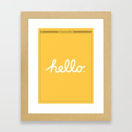 Hello: The Macintosh Office (Yellow) Gerahmter Kunstdruck