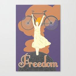Bike For Freedom Canvas Print