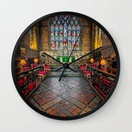 Cathedral Interior Wall Clock