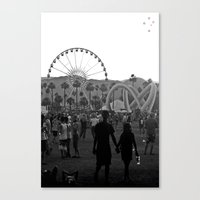 coachella Canvas Prints featuring Coachella Couple by Derek Delacroix