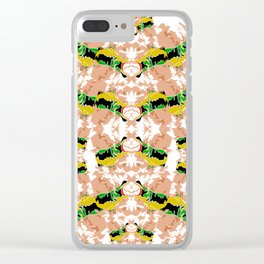 Hippopotamus Yellow/Green Clear iPhone Case