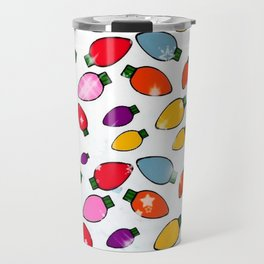 Christmas Bulb Popart by Nico Bielow Travel Mug