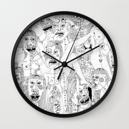 Figures in the Night #1 Wall Clock