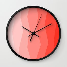 Cool Geometric Living Coral Gradient abstract Wall Clock