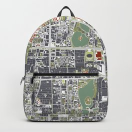 Beijing city map engraving Backpack