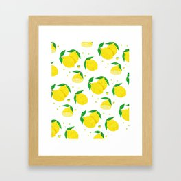 Big Lemon pattern Framed Art Print