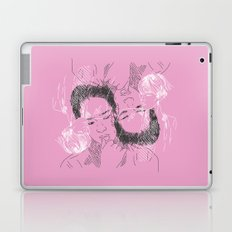 Korean faces pattern pastel pink Laptop & iPad Skin