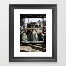 Vintage pickup truck Framed Art Print