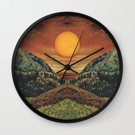 Sunset vibes Wall Clock
