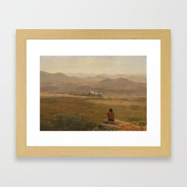 Albert Bierstadt - The Lookout 1900 Framed Art Print