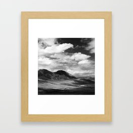 Mountains and Clouds, Tajikistan Framed Art Print