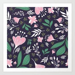 Spring Flowers Style D Art Print