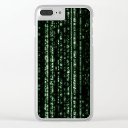 Streaming Mathematical Array Clear iPhone Case