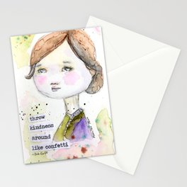 Throw Kindness Around Like Confetti Girl Stationery Cards