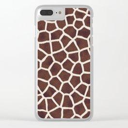 Gornel Giraffe Clear iPhone Case
