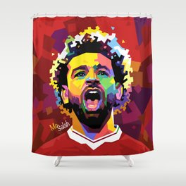 Mo Salah WPAP Shower Curtain