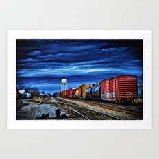 Thunder on the Rails Art Print