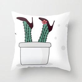 single ladies legs Throw Pillow