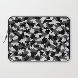 Camouflage Digital Black and White Laptop Sleeve
