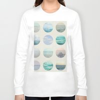 polka Long Sleeve T-shirts featuring Ocean Polka dot  by Pure Nature Photos