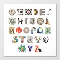 art history Canvas Prints featuring A-Z Art History by Made With Awesome