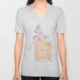 paris parfum girl Unisex V-Neck
