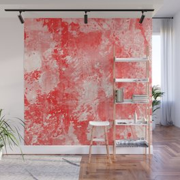 Abstract 17 - Study In Red Wall Mural