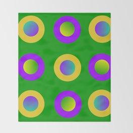 Mardi Gras Polka Dots Throw Blanket