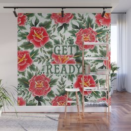 Get Ready - Vintage Floral Tattoo Collection Wall Mural