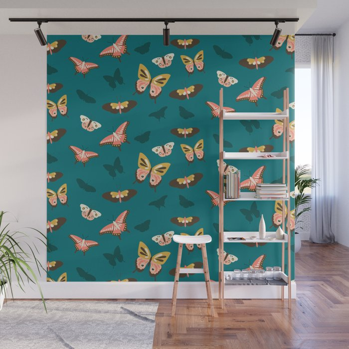 Butterfly Swarm Wall Mural