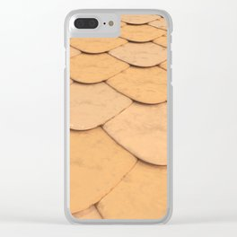 Pattern of orange rounded roof tiles Clear iPhone Case