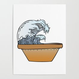 Potted Waves Poster