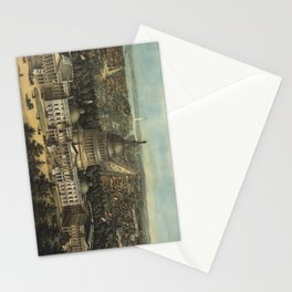 Vintage Pictorial Map of Washington D.C. (1871) Stationery Cards
