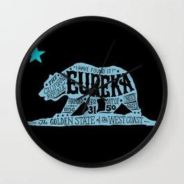 Eureka Bear — CA flag Wall Clock