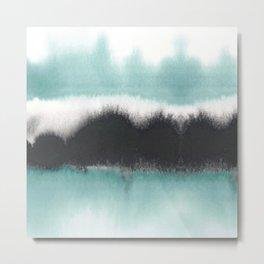 Aqua Drift Metal Print