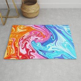 Elegant Marble 9 - Liquid Rainbow Colorful Rug