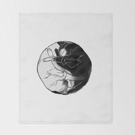 purrfect circle Throw Blanket