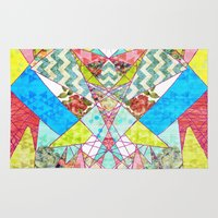 quilt Area & Throw Rugs featuring Geometric Quilt by Sandra Arduini
