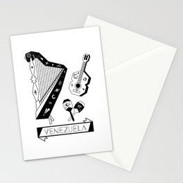 Venezuelan Tipical Music Instruments Stationery Cards