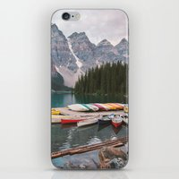 iPhone & iPod Skins featuring Lake Moraine by Caleb Troy