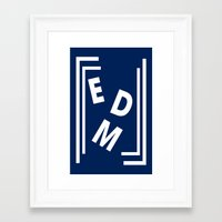edm Framed Art Prints featuring EDM (simple shapes) by DropBass