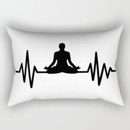 yoga heartbeat-2 Rectangular Pillow