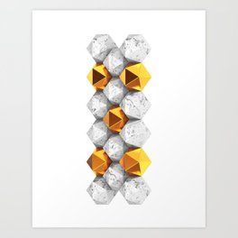 Golden & Marble Nuggets Art Print