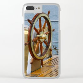 Helm wheel Clear iPhone Case