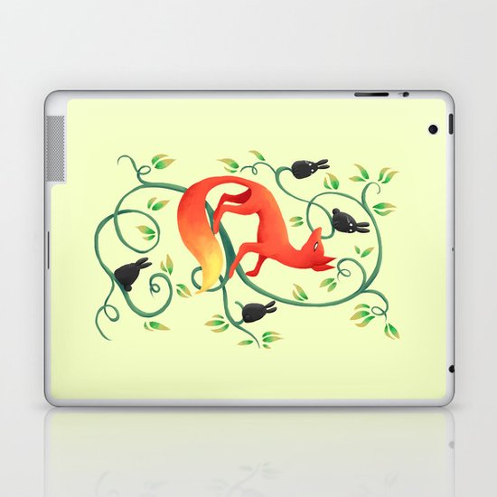 Bunnies and a Fox Laptop & iPad Skin