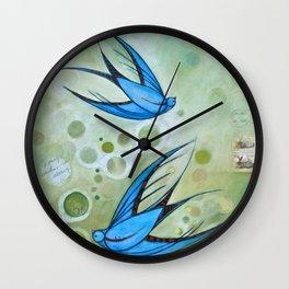 Bonnie Birdies Wall Clock