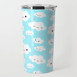 Happy Clouds in the Sky Travel Mug