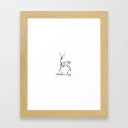 Deer Skeleton Framed Art Print