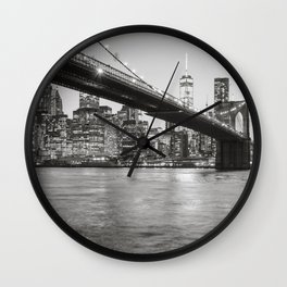 After Sunset in Brooklyn Wall Clock